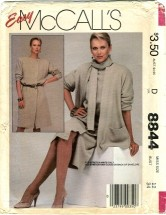 McCall's 8844 Misses Jacket Dress Scarf Size 12