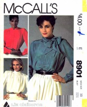 McCall's 8901 Sewing Pattern Misses Blouses Size 10 Bust 32 1/2