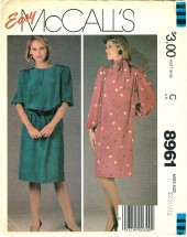 McCall's 8961 Vintage Sewing Pattern Womens Dress & Tie Belt Size 6 - 8