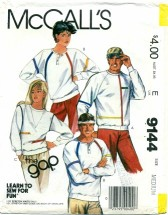 McCall's 9144 THE GAP Unisex Tops Chest 36 - 38