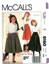 McCall's 9160 BROOKE SHIELDS Skirts Size 10