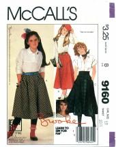 McCall's 9160 BROOKE SHIELDS Skirts Size 12