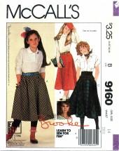 McCall's 9160 BROOKE SHIELDS Skirts Size 14