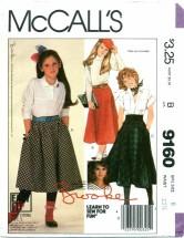 McCall's 9160 BROOKE SHIELDS Skirts Size 8