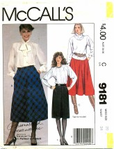 McCall's 9181 PALMER & PLETSCH Skirts Size 20