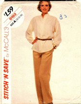 McCall's 9193 Top and Pants Size 10 - 14 - Bust 32 1/2 - 36