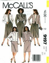 McCall's 9197 Misses Jacket Blouse Skirt Scarf Size 10
