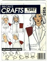 McCall's 9287 Crafts Camisole & Shoulder Pads Size 6 - 20 Bust 30 1/2 - 42