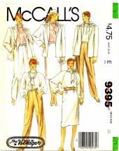 McCall's 9395 Sewing Pattern The Villager Misses Jacket Blouse Scarf Skirt Pants Size 10 - Bust 32 1/2