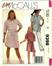 McCall's 9398 Girls Dress Tunic Belt Pants Size 7