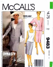 McCall's 9483 Sewing Pattern Misses Jacket Top Skirt Suit Size 14 Bust 36