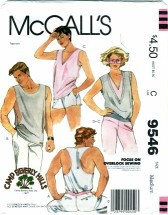 McCall's 9546 Unisex Tops & Label Bust / Chest 36 - 38