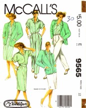 McCall's 9565 Sewing Pattern Misses Jacket Shirt Skirt Pants Size 12 - Bust 34
