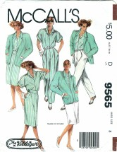 McCall's 9565 Sewing Pattern Misses Jacket Shirt Skirt Pants Size 8 - Bust 31 1/2