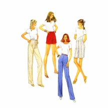 Misses Pants or Shorts McCalls 9585 Vintage Sewing Pattern Size 8 Waist 24