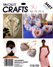 McCall's 3427 Sewing Pattern Crafts Bath Wrap Pillows Hair Bows Sachets