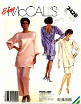 Misses Tunic Skirt Pants Size 10 - 12 - Bust 32 1/2 - 34 McCall's 3428 Sewing Pattern