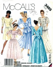 McCall's 3485 Sewing Pattern Misses Formal Gown or Dress Size 12