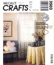 McCall's 3503 Sewing Pattern Baby Quilt Lace Curtains Tablecloths Placemats Pillows