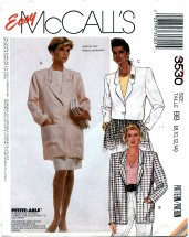 McCall's 3530 Unlined Jacket Size 8 - 14