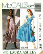 McCall's 3557 LAURA ASHLEY Dress Size 8