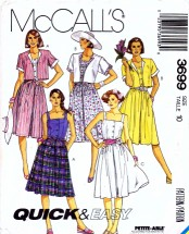 McCall's 3699 Sewing Pattern Jacket Dress Belt Size 10 - Bust 32 1/2