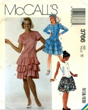 McCall's 3766 Tiered Dress Size 10