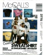 McCall's 3775 Unisex Sweatshirts & Designs Chest 30 1/2 - 46