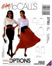 McCall's 3790 Skirts & Sash Size 6 - 8 - Waist 23 - 24