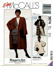 McCall's 3874 WOMAN'S DAY Coat & Belt Size 10 - 12