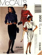 McCall's 3902 Pullover Stretch Knit Dress Size 8 - 12