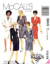 McCall's 3903 Front Button Dress Size 6 - 10 - Bust 30 1/2 - 32 1/2