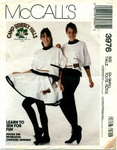 McCall's 3976 CAMP BEVERLY HILLS Top Skirt Pants Size 6 - 8