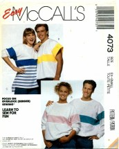 McCall's 4073 Unisex Tops Chest 30 1/2 - 31 1/2