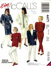 McCall's 4471 Cardigan Tops Skirt Pants Size 10 - 12