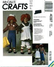 McCall's 4097 Raggedy Ann & Andy Costumes Chest 40 - 42