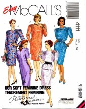 McCall's 4111 Sewing Pattern Dress Tunic Top Skirt Size 14 Bust 36