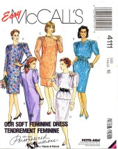 McCall's 4111 Sewing Pattern Dress Tunic Top Skirt Size 16 Bust 38
