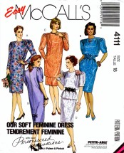 McCall's 4111 Sewing Pattern Dress Tunic Top Skirt Size 18 Bust 40