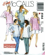 McCall's 4144 Maternity Tops Pants Shorts Size14 - 16 Bust 36 - 38