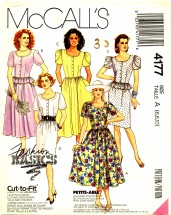 McCall's 4177 Front Button Dress Size 6 - 10 - Bust 30 1/2 - 32 1/2