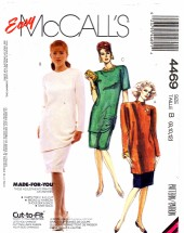 McCall's 4469 Tunic Skirt Dress Size 8 - 12 - Bust 31 1/2 - 34