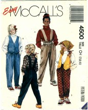 McCall's 4500 Sewing Pattern Girls Vest Pants Size 7 - 10