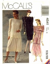 McCall's 4541 Dress Tunic Skirt Size 8 - Bust 31 1/2