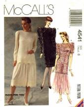 McCall's 4541 Dress Tunic Skirt Size 8 - Bust 31 1/2