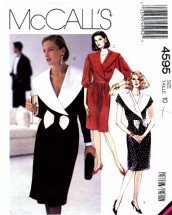 McCall's 4595 Sewing Pattern Wide Collar Dress Size 10 Bust 32 1/2