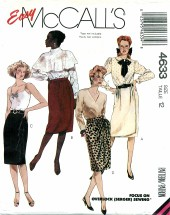 McCall's 4633 Mock-Wrap Skirts Size 12