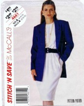 McCall's 4661 Jacket & Dress Size 8 - 12 - Bust 31 1/2 - 34