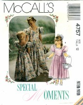 McCall's 4757 Sewing Pattern Girls Special Occasion Gown Dress Size 12