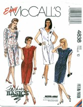 McCall's 4838 Pegged Skirt Dress Size 10